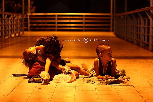 kids begging
