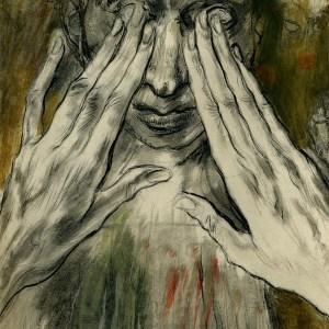 Healing the blind man by Edy-Legrand